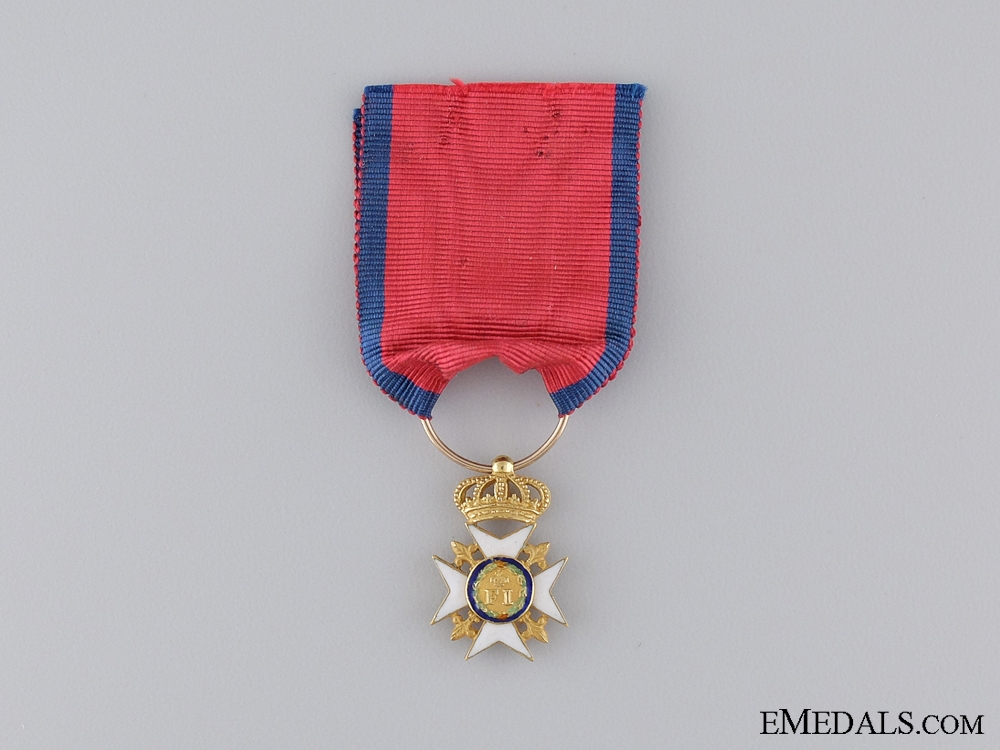 A Rare 1830's Royal Order of Francis I in Gold