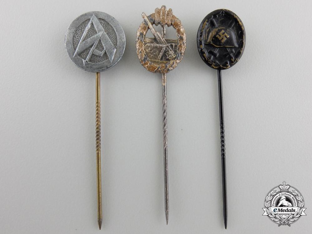 Three Second War German Stickpins