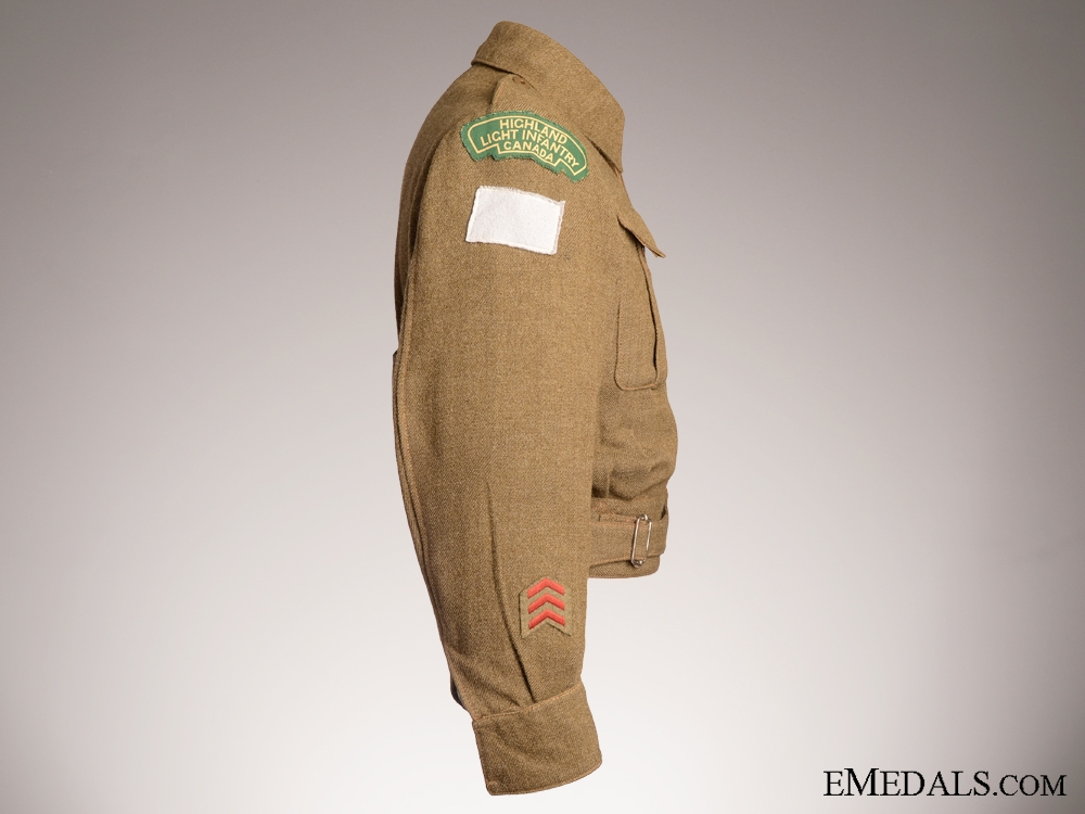 A WWII Named HLI of Canada Battledress Blouse