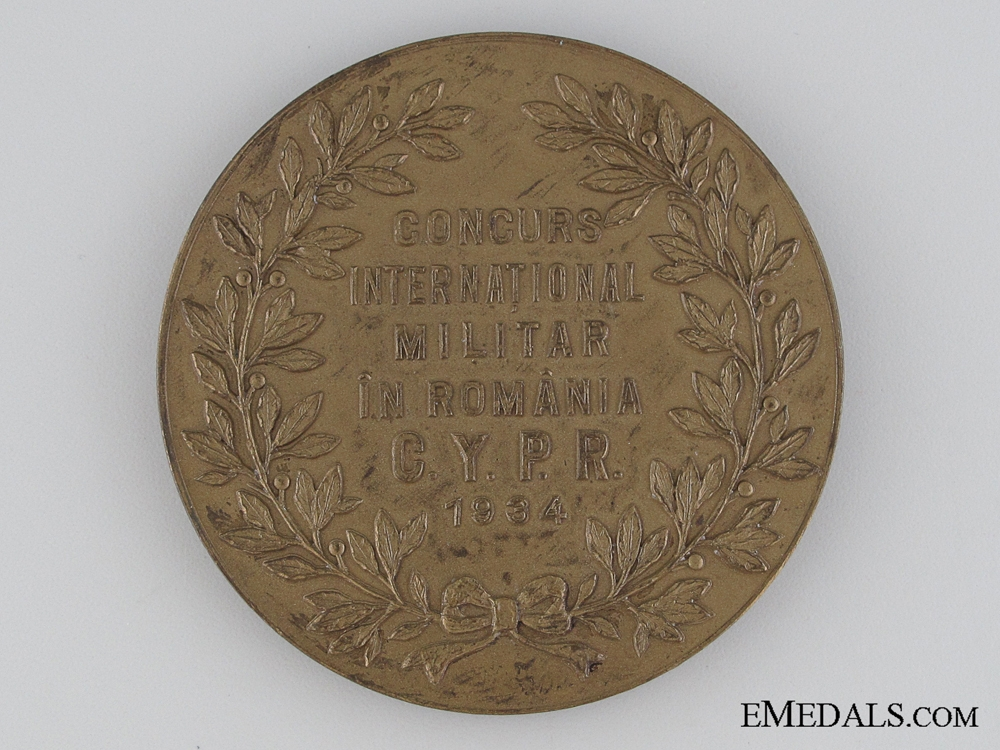 Romanian Table Medal 1934