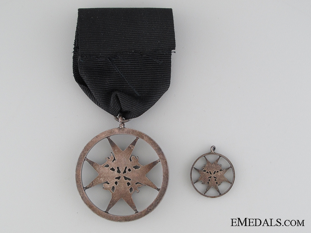 Order of St. John, Brother Breast Badge, Fullsize and Miniature