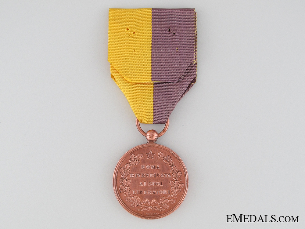 Italian Liberators of Rome 1870 Commemorative Medal