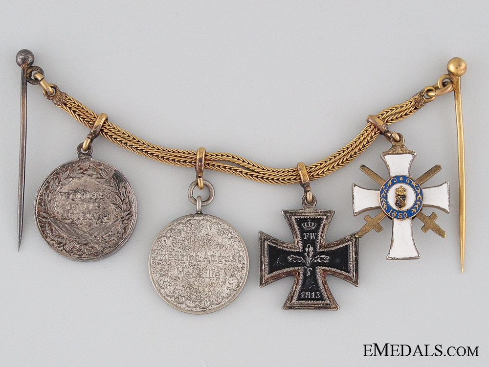 Group of Four Miniature Medals