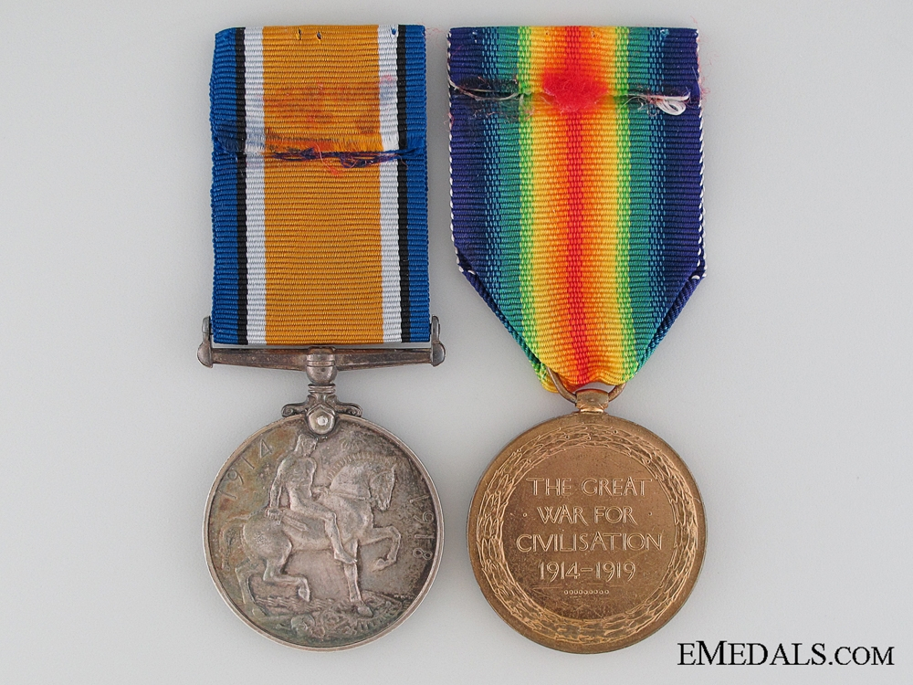 WWI Pair to the Duke of Cornwall's Light Infantry