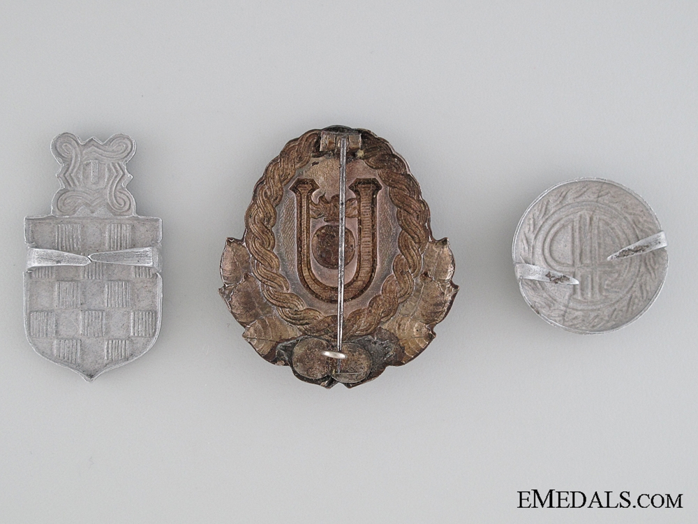 Three Croatian Cap Badges