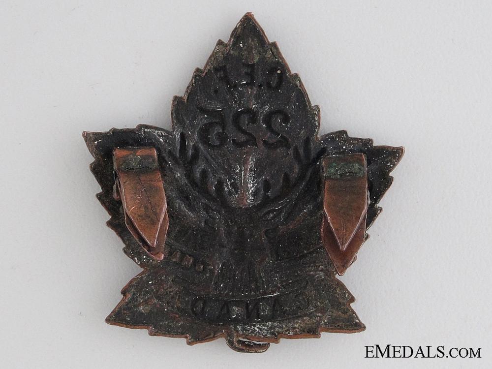 WWI 225th Infantry Battalion Collar Tab CEF