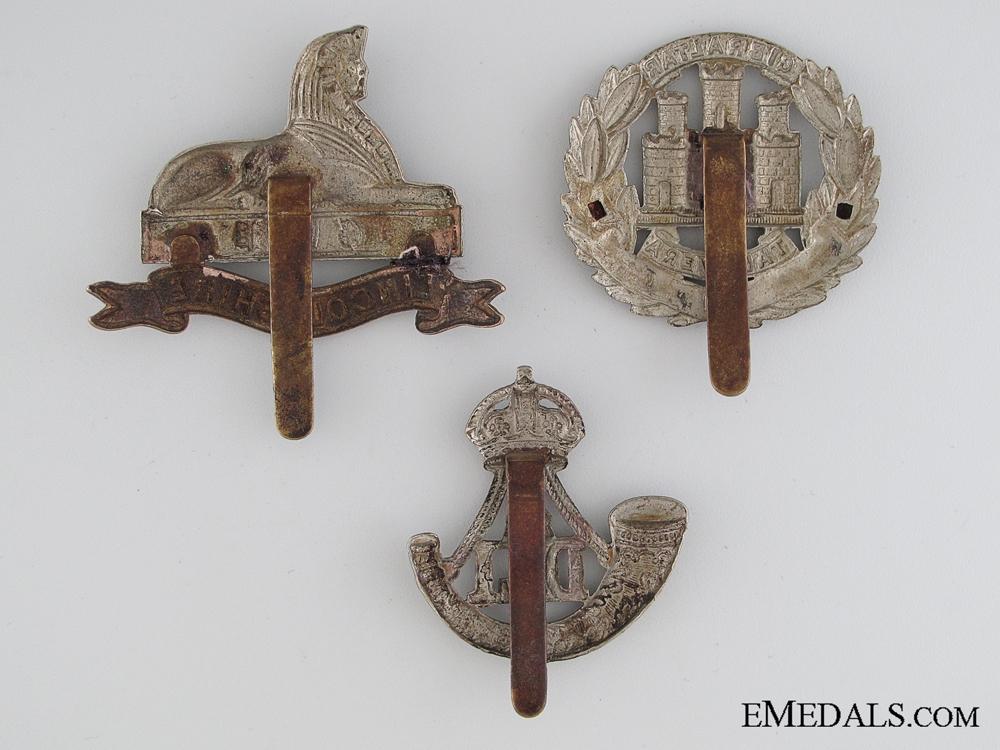 Three WWI British Cap Badges