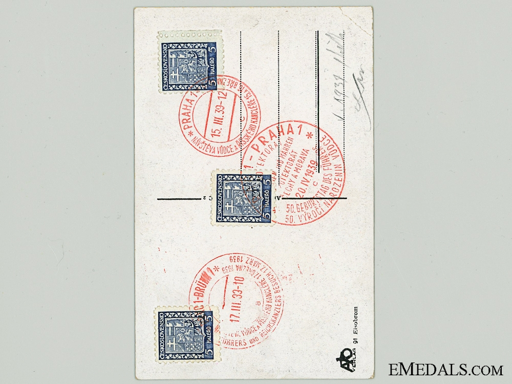 An AH Signature on Czech Postcard