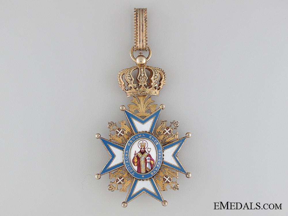 The Order of St.Sava; Commander by Scheid of Vienna