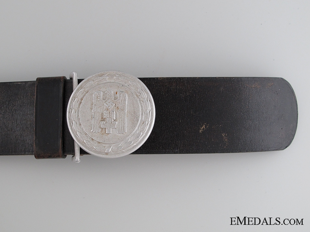DRK Officers Belt and Buckle by F. Hofstätter