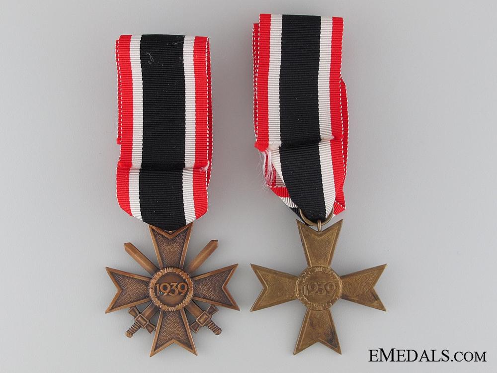 A Pair of Second Class War Merit Crosses