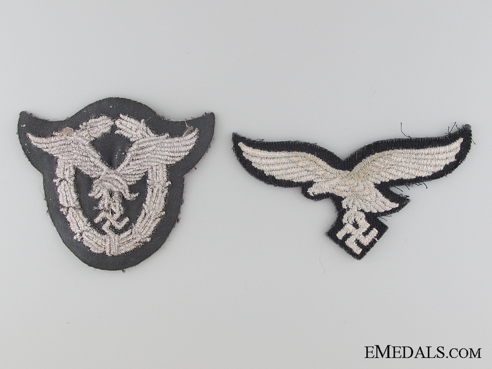 Luftwaffe Cloth Pilot's Badge and Breast Eagle