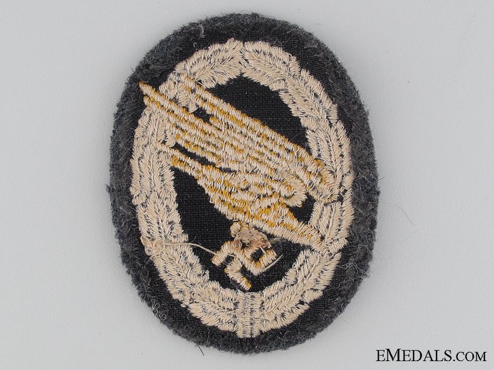Luftwaffe Paratrooper's Badge; Cloth Version