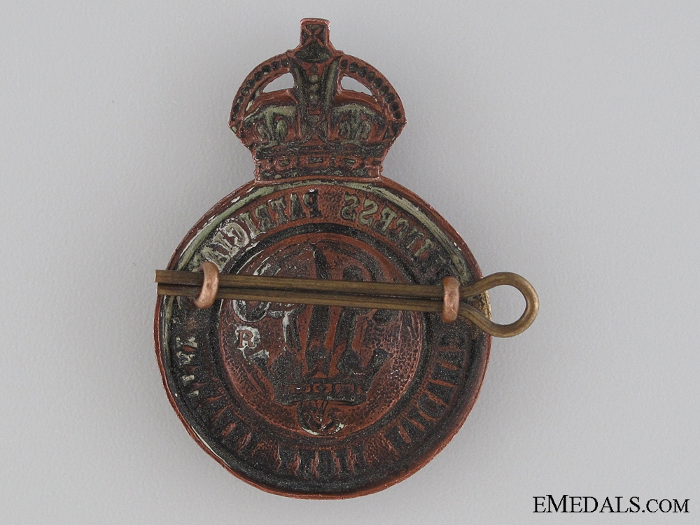 WWI Princess Patricia's Canadian Light Infantry Cap Badge CEF