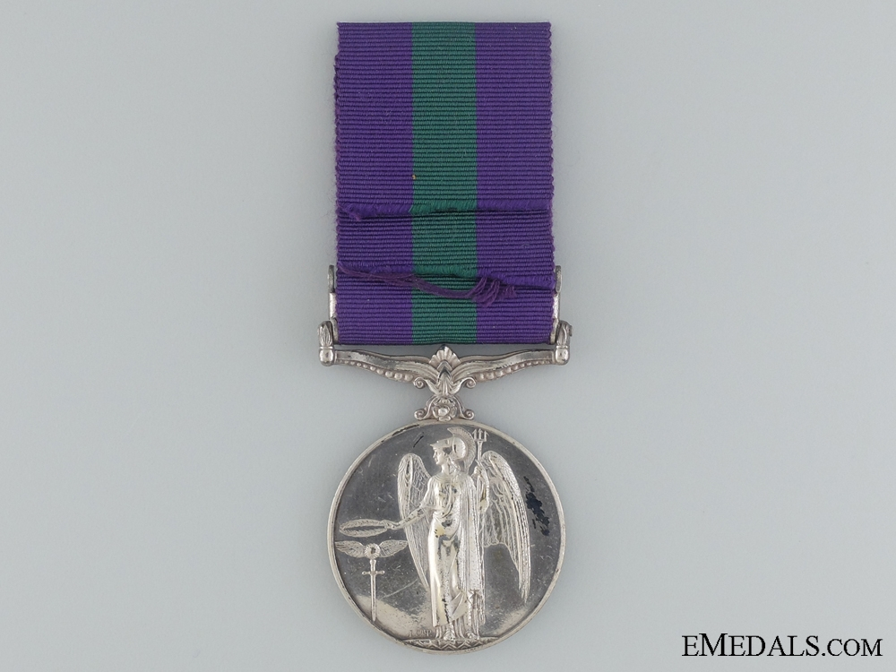 1918-1962 General Service Medal to Pte. T. Sethunts
