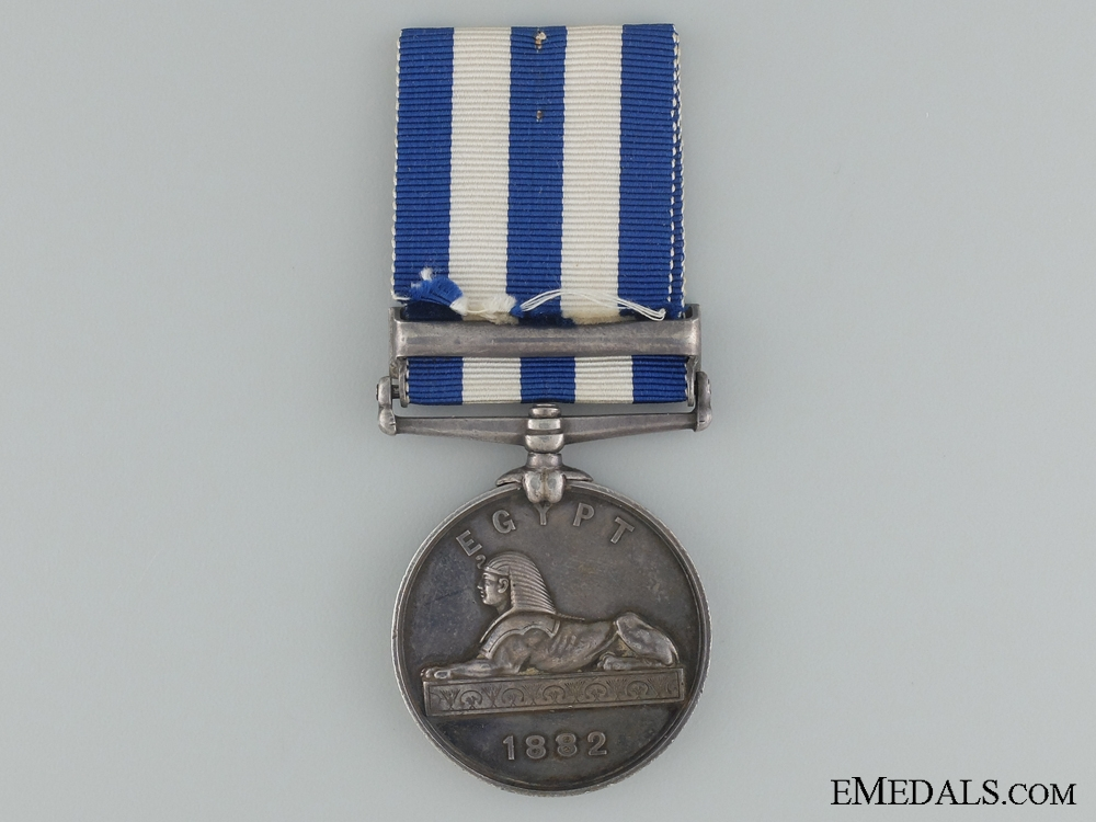 1882-89 Eygpt Medal to HMS Temeraire