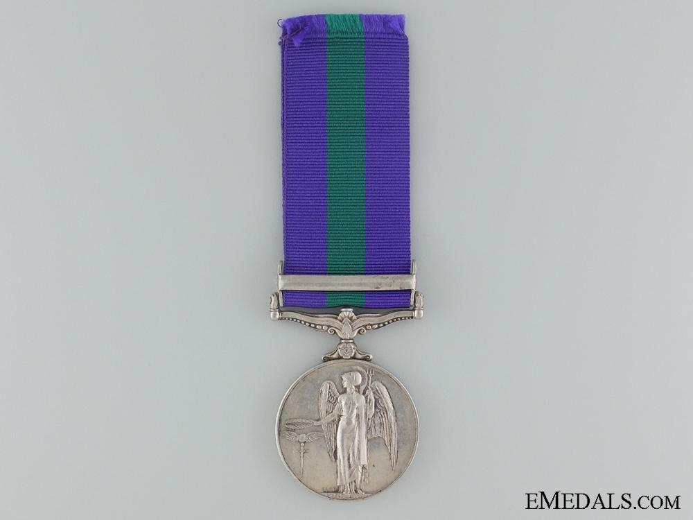 1918-62 General Service Medal to CFN. F. McGregor