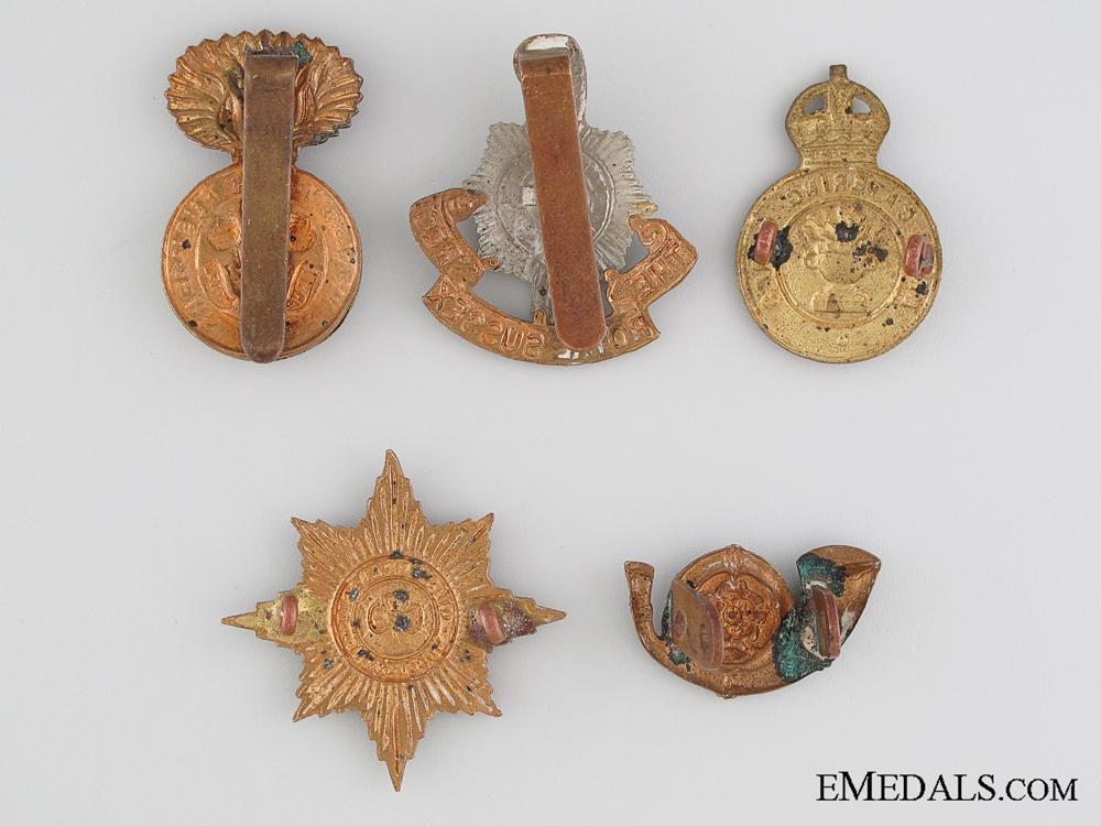 Five First & Second World War British Cap Badges