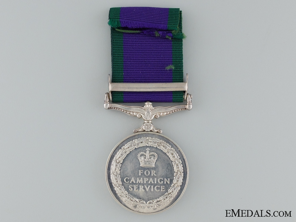 1962-2007 General Service Medal to CPL. Embahadur Sunwar
