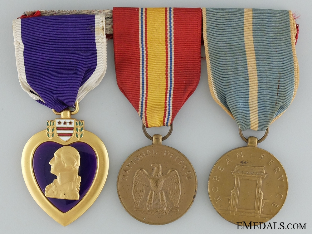 A Korean War Purple Heart Group to Sergeant John L. Hunt