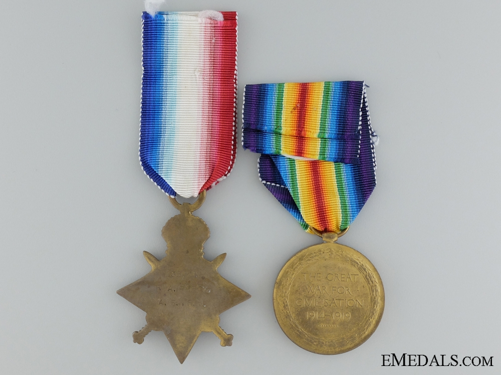 A WW1 Pair to R.A.Percy, Royal Navy