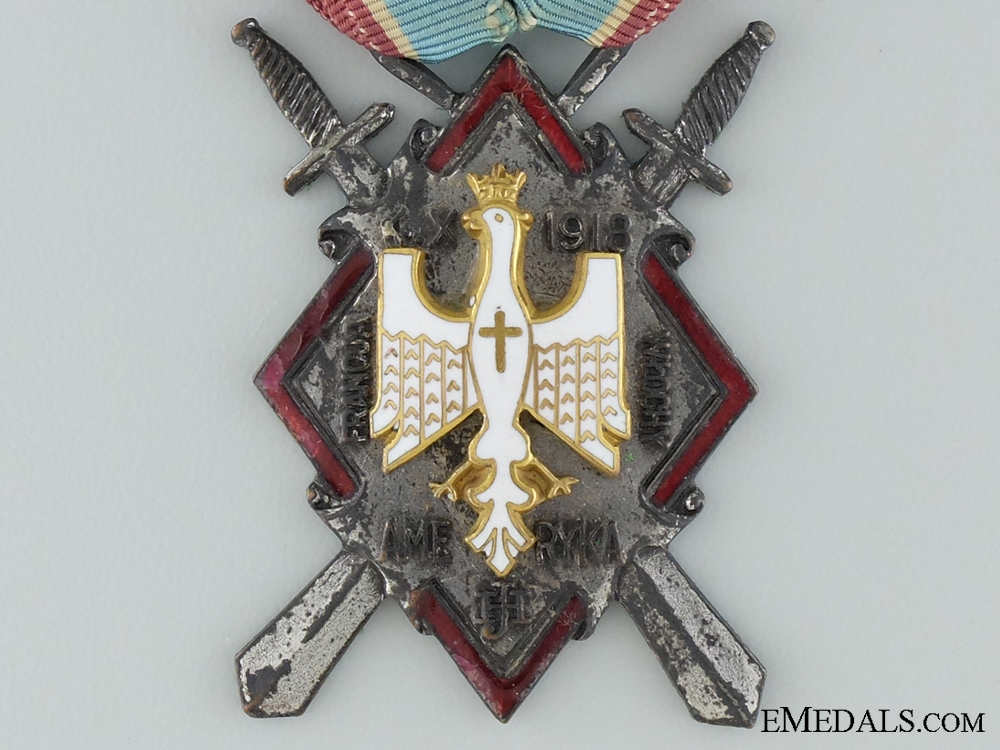 A Polish First War Haller's Swords Decoration for Americans