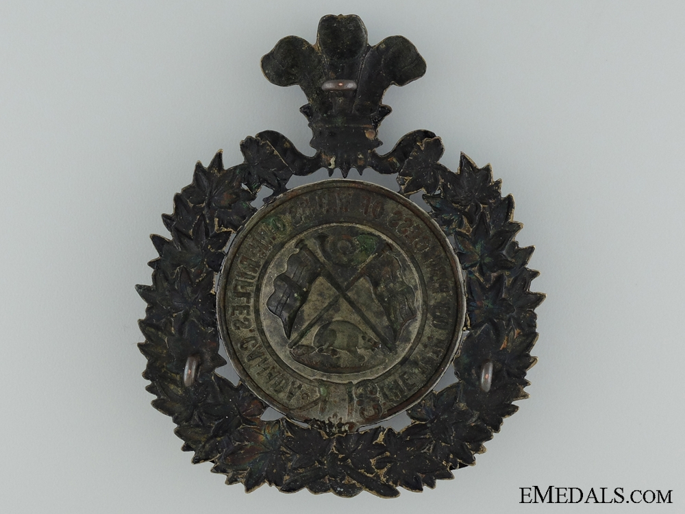 The Princess of Wales' Own Rifles Helmet Plate; 14th Regiment