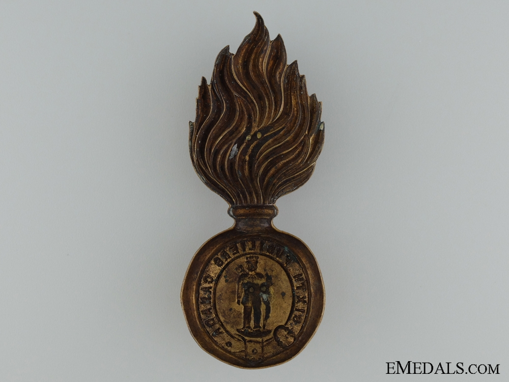6th Fusiliers (Hochelaga Light Infantry) Fur Cap Grenade