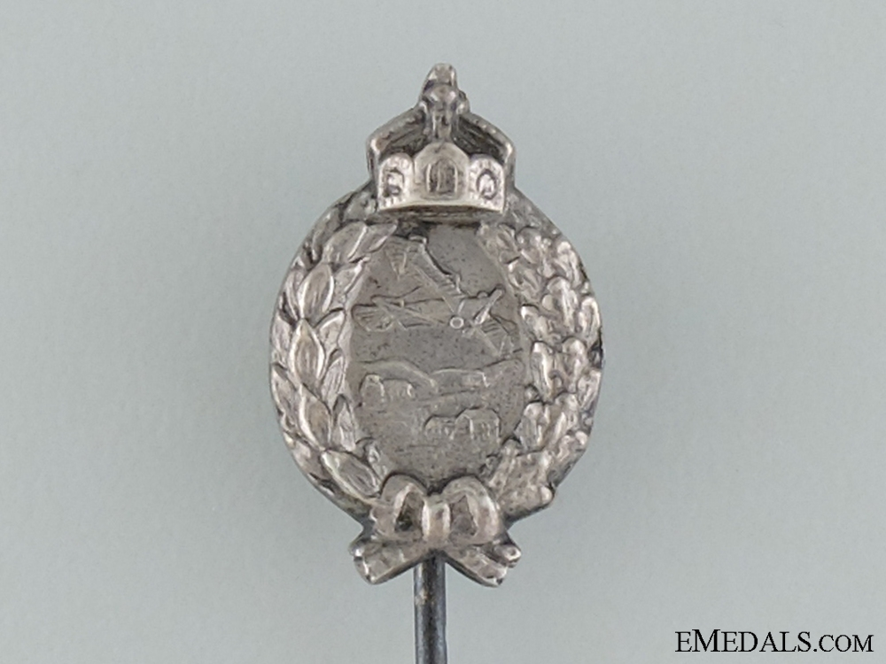A Prussian Pilot's Badge Stickpin; Marked 800