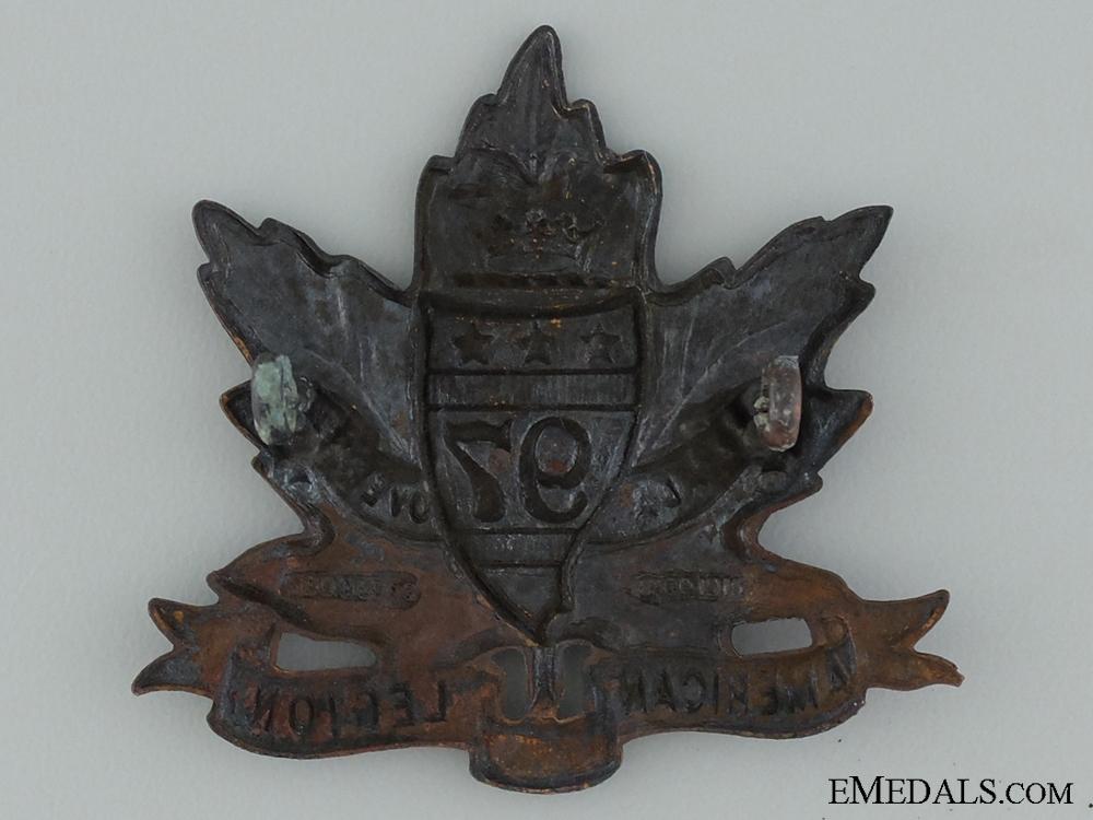 "WWI 97th Infantry Battalion ""Toronto Americans"" Cap Badge"