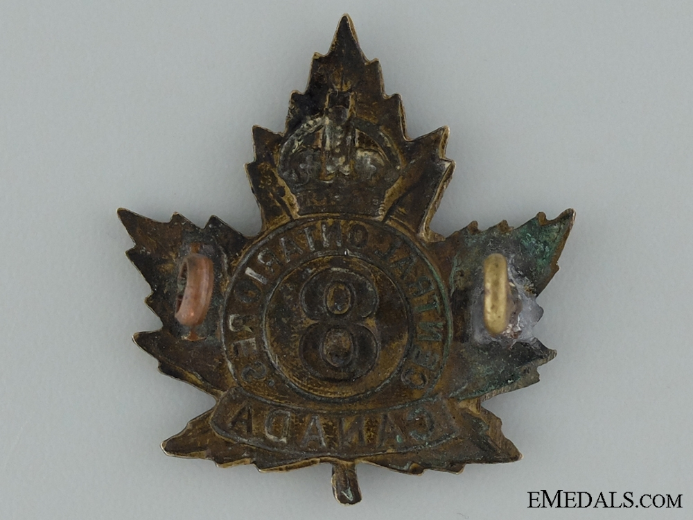 WWI 8th Reserve Infantry Battalion Cap Badge CEF