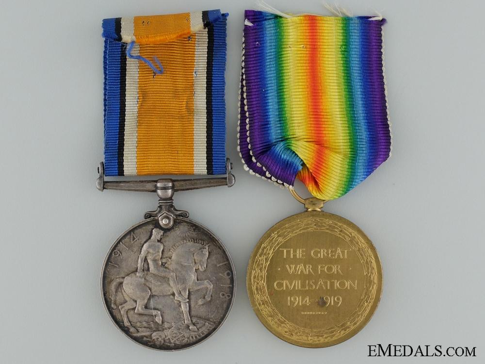 A First War Pair to the Canadian Garrison Artillery CEF