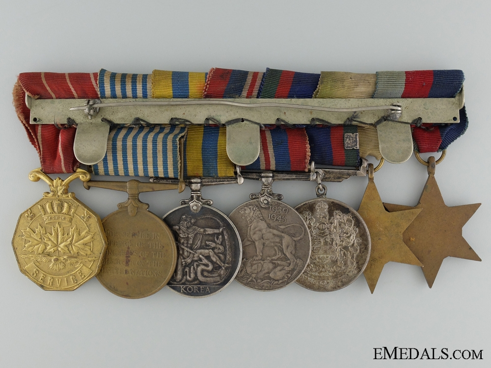 A Canadian Second War & Korea Medal Bar of Seven