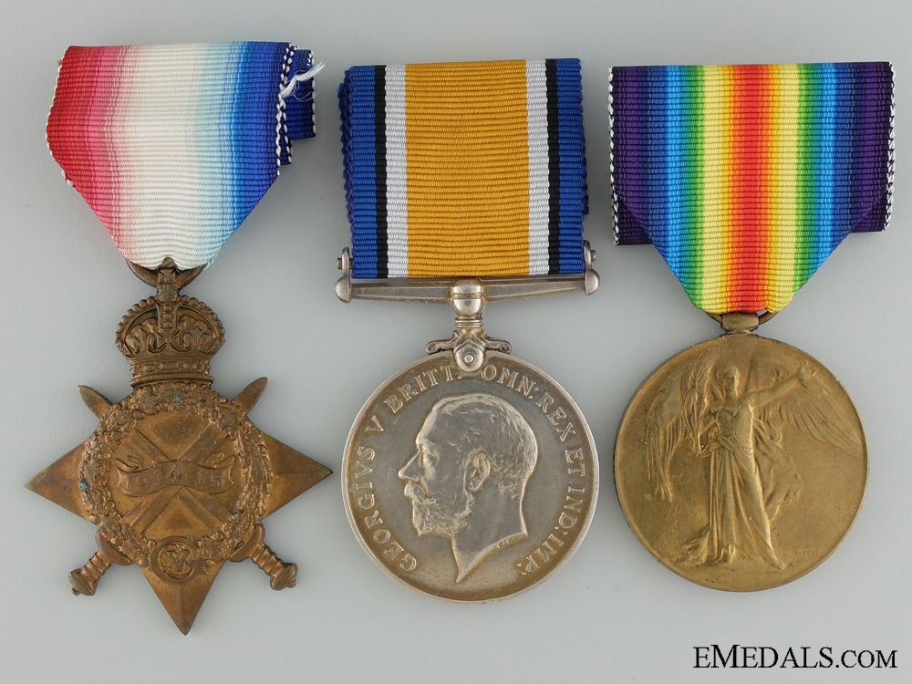 A First War Medal Group to the 4th Canadian Infantry CEF
