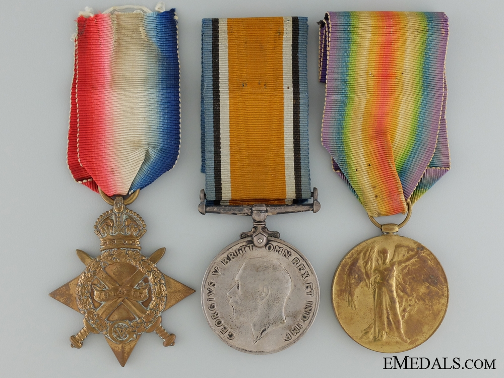 A First War Canadian Trio to Meritorious Service Medal Recipient