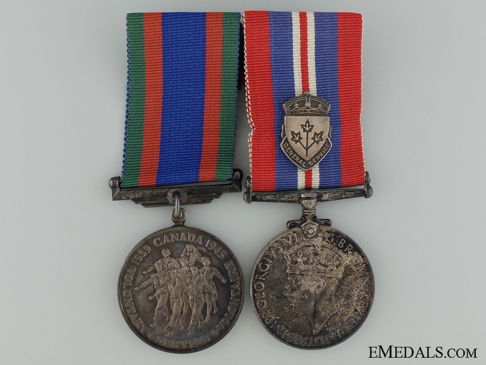 A Second War Medal Pair to the Royal Canadian Engineers