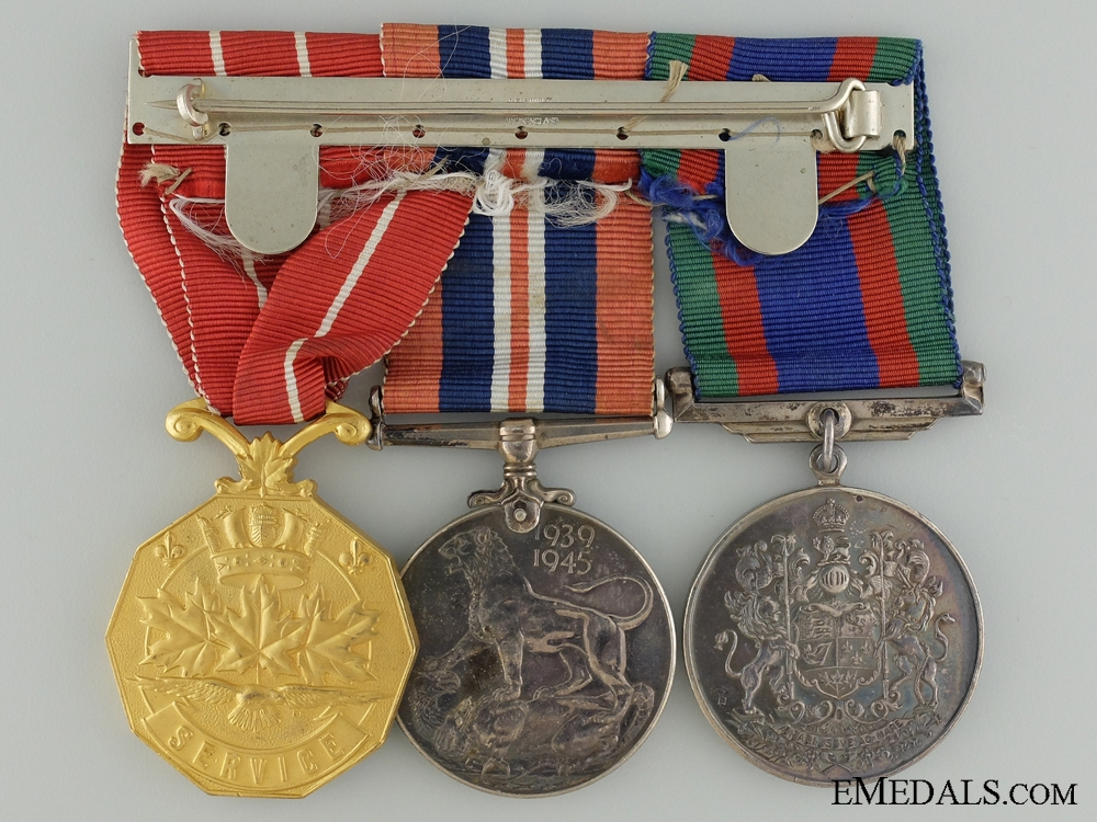 A WWII Canadian Forces Decoration Medal Group to Sgt. Williamson