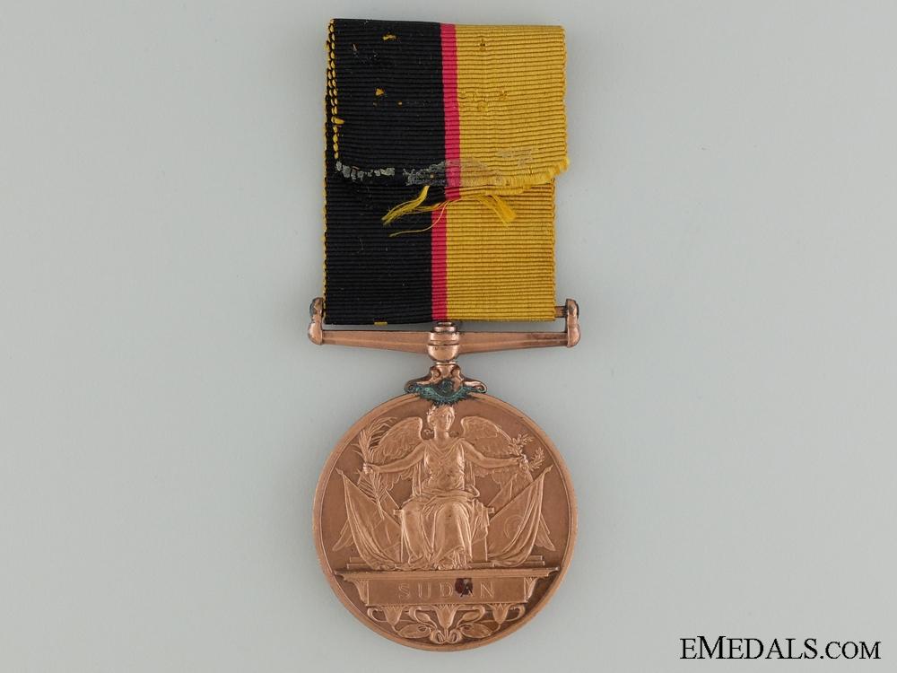 A 1896-97 Queen's Sudan Medal; Bronze Version