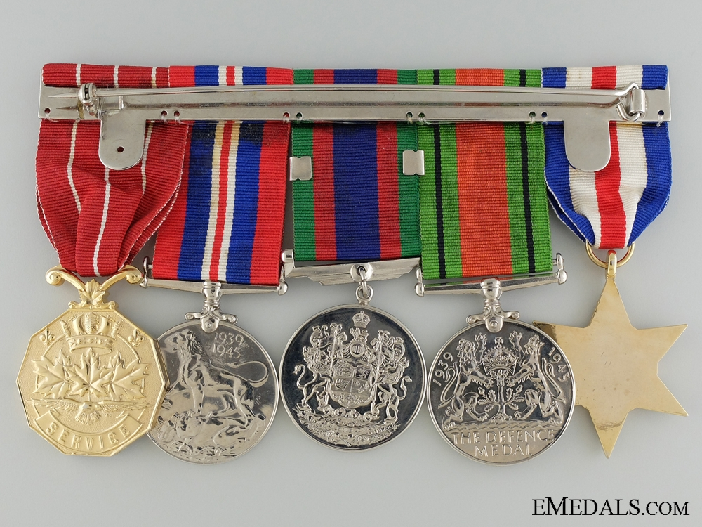 WWII Canadian Medal Group to the Royal Canadian Ordnance Corps