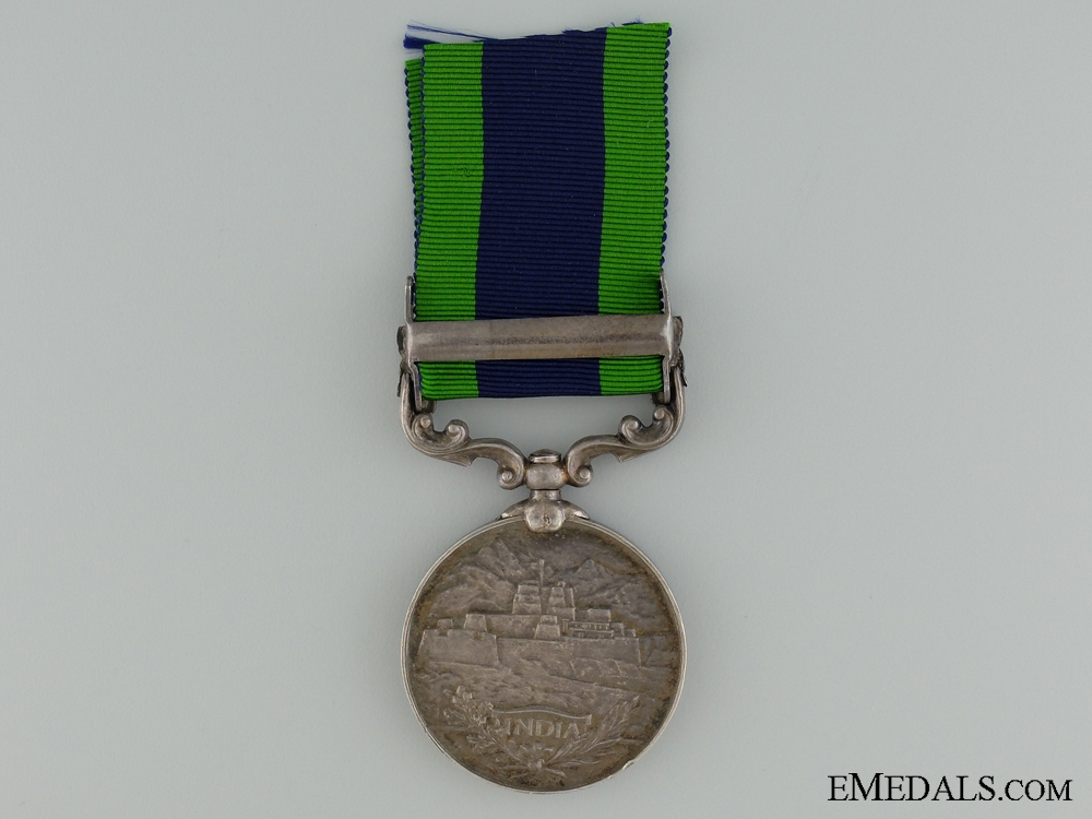 An India General Service Medal to the Royal Warwickshire Regiment