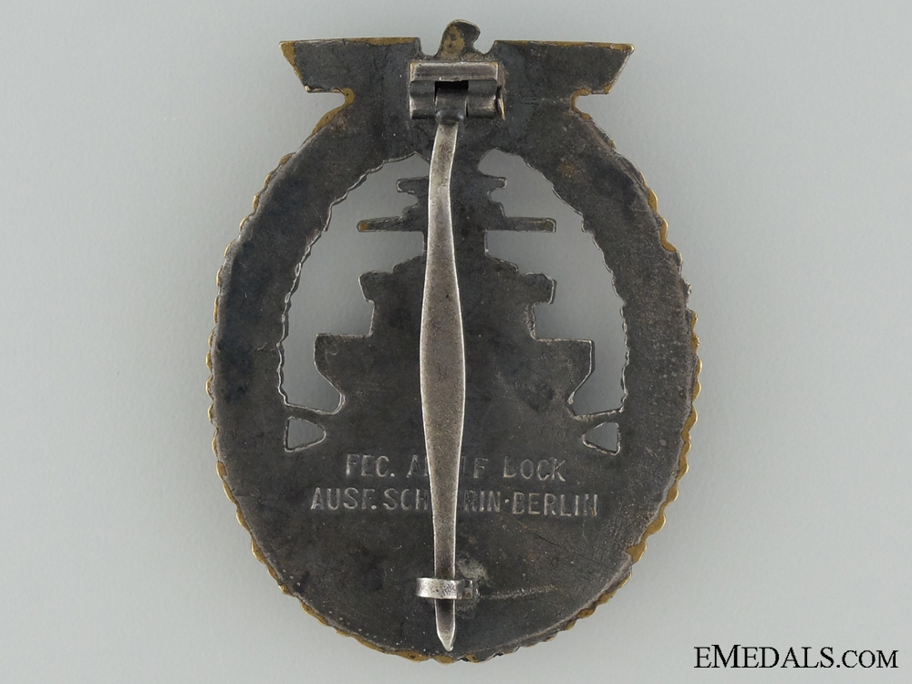A Kriegsmarine High Seas Fleet Badge by Schwerin, Berling