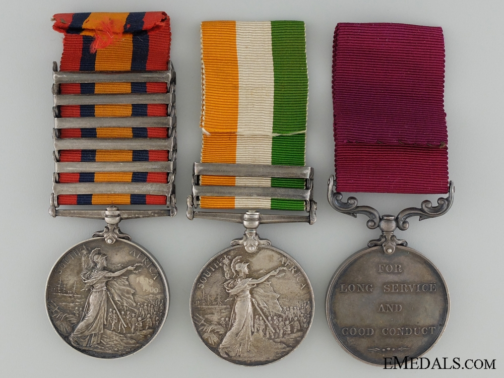 A Boer War Medal & Long Service Group to the Army Service Corps