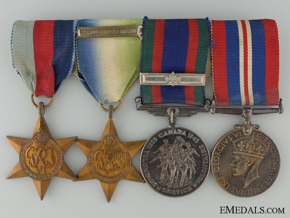 WWII Medal Bar & Documents to Telegraphist Hurd; R.C.V.N.R.