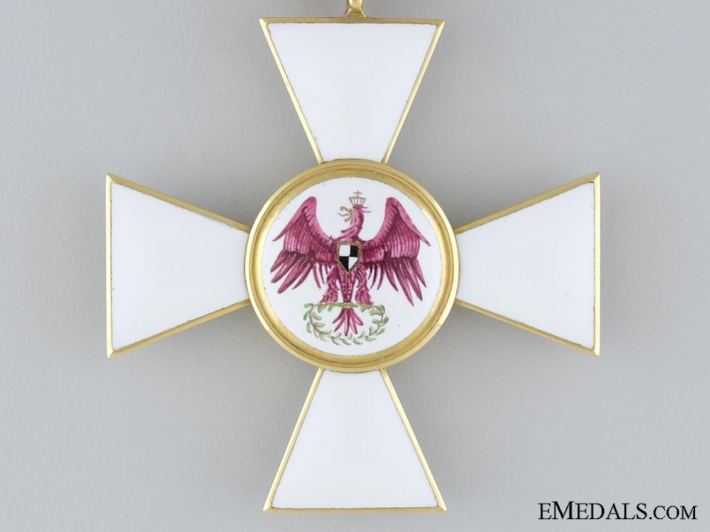 An 1850 Prussian Order of the Red Eagle in Gold; Unmarked
