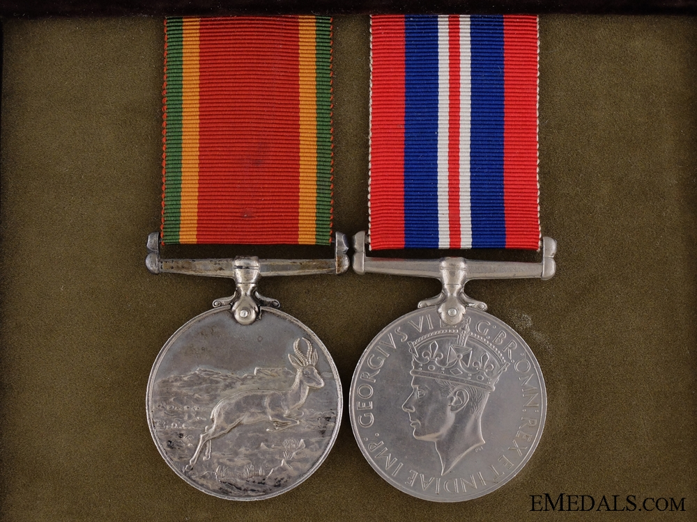 A Second War Medal Pair to South African Military Nurse