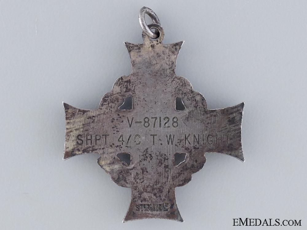 WWII Memorial Cross to Shipwright 4th Class T.W. Knight RCN