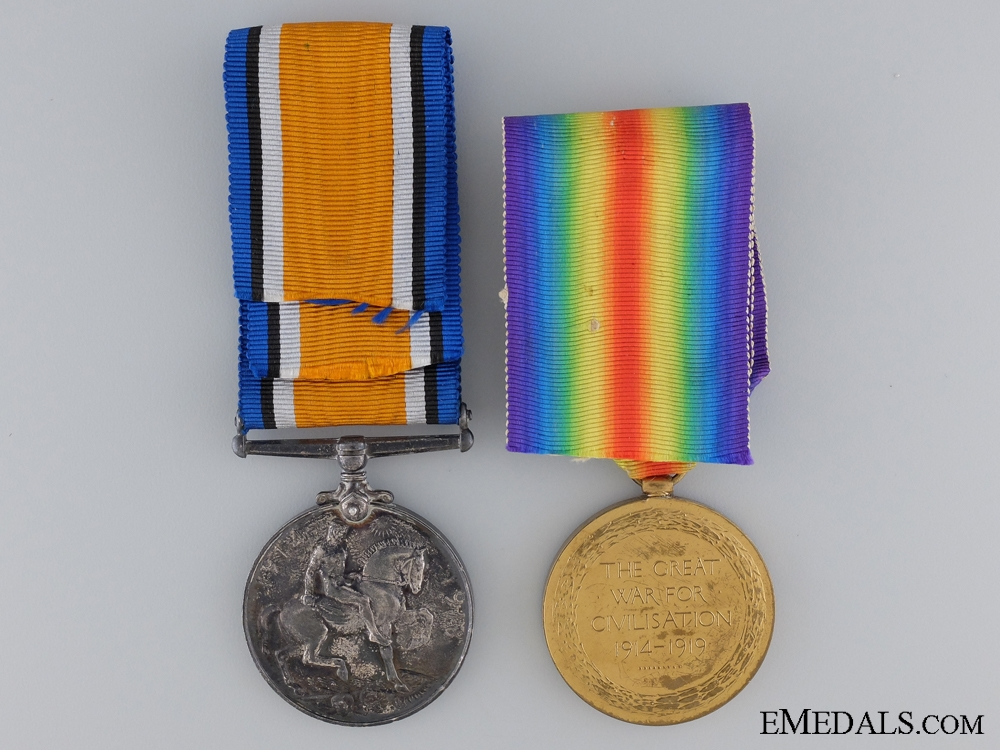 A First War Canadian Medal Pair to the 20th Infantry CEF