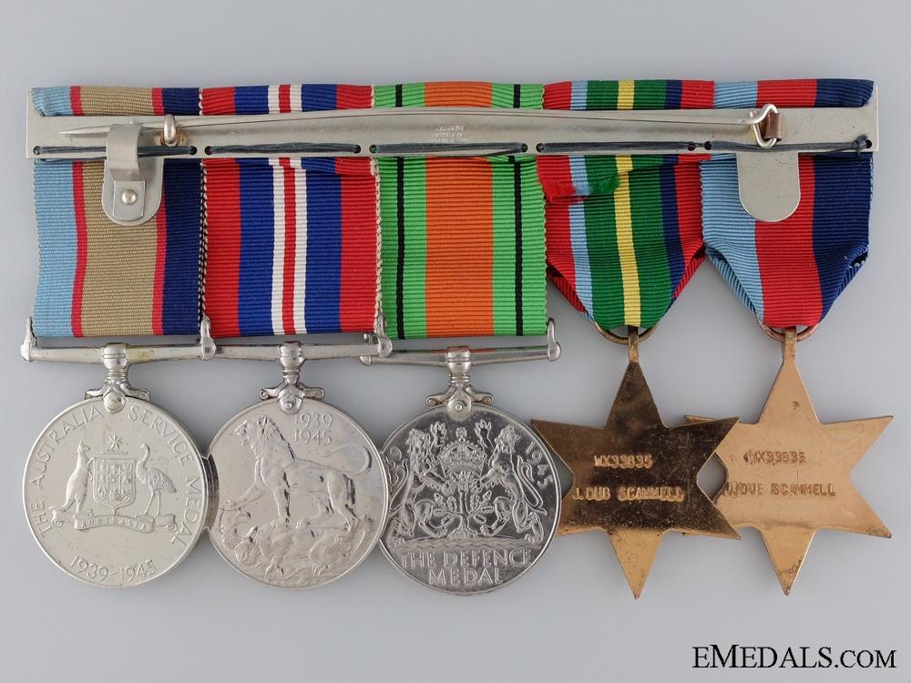 A Second War Australian Medal Group to J. Dub Scammell