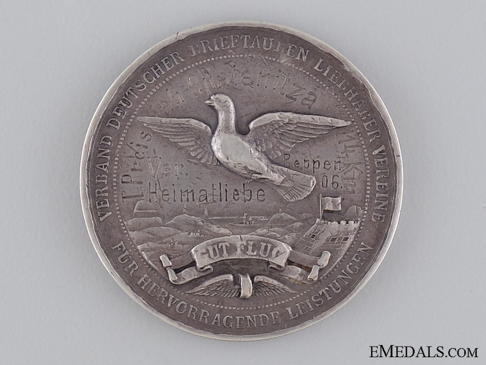 WWI German Carrier Pigeon Enthusiasts Medal