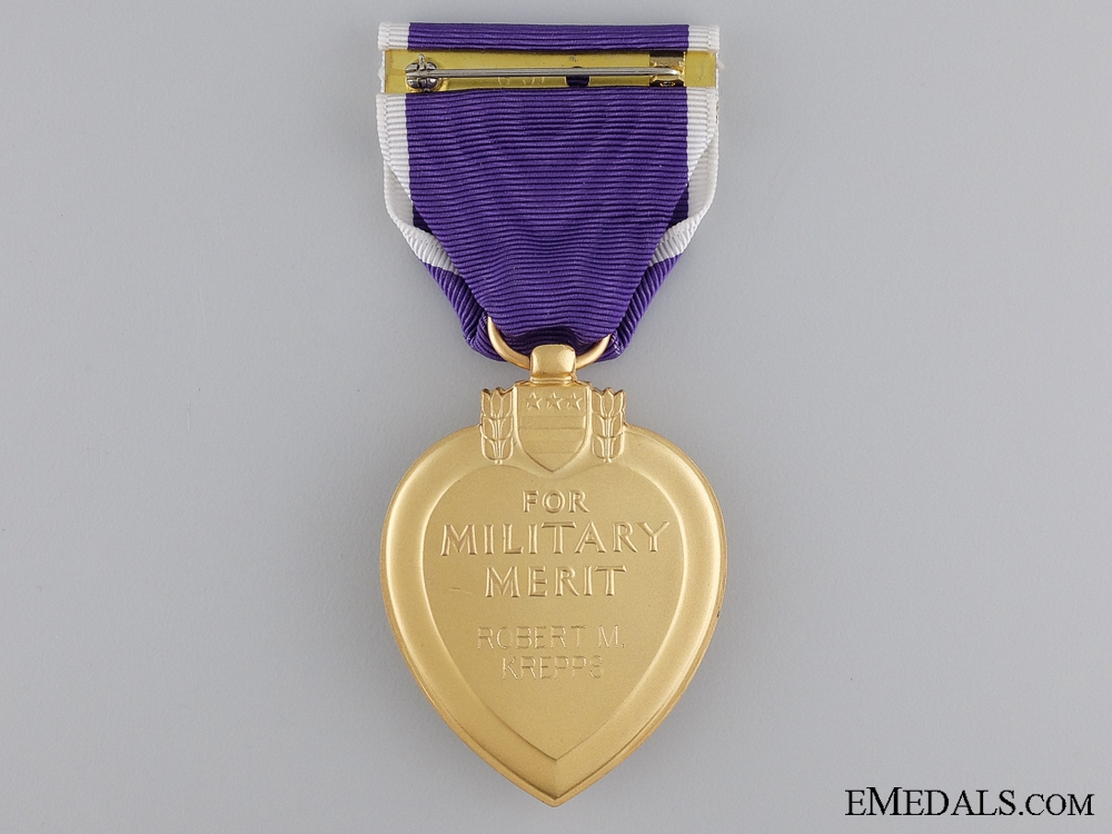 An American Purple Heart to Robert M. Krepps